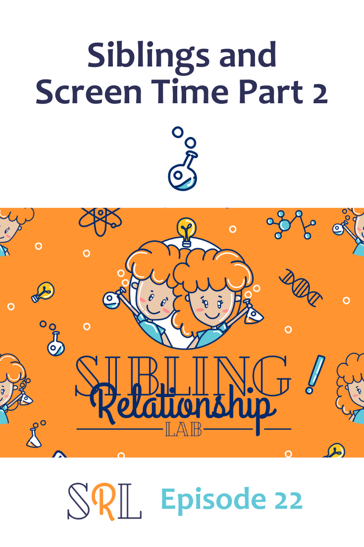 In this follow-up episode about siblings and screen time, we talk about some practical strategies for handling the struggles as well as some benefits!