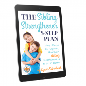 eBook on ipad tablet with simple sibling relationship building activities